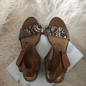 Franco Sarto Shoes , cushioned ,Velcro, snake skin